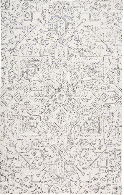 Feizy Home Belfort 8778F Ivory - Charcoal