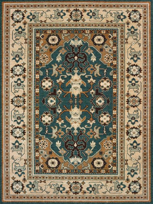 Oriental Weavers Anatolia 5502L Teal | Hot Deals