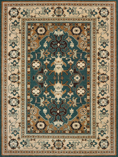 Oriental Weavers Anatolia 5502L Teal | Hot Deals