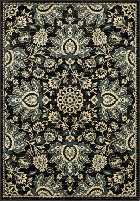Oriental Weavers Evandale 9838B Navy | Hot Deals