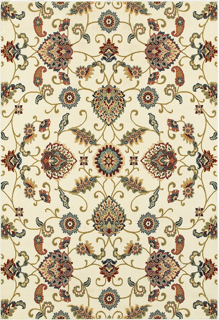 Oriental Weavers Kashan 9946W Ivory | Hot Deals