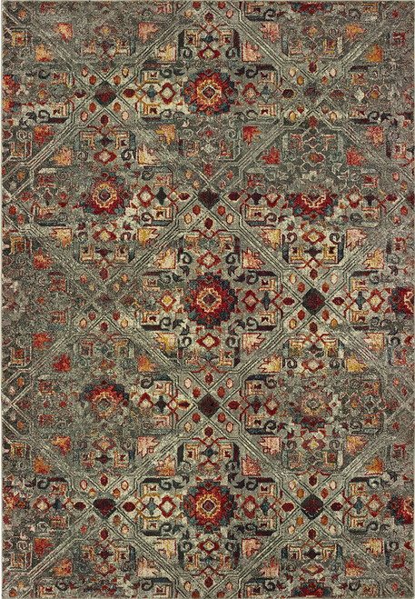 Oriental Weavers Mantra 003X7 Grey | Hot Deals