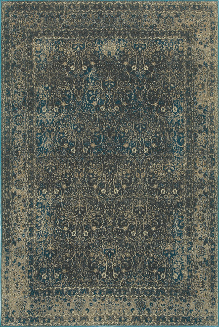 Oriental Weavers Pasha 1337B Navy | Hot Deals