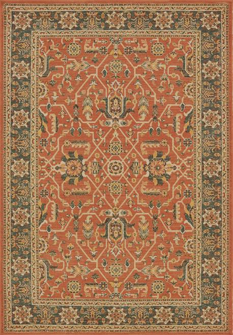 Oriental Weavers Toscana 9537C Orange | Hot Deals