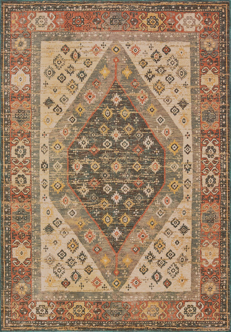Oriental Weavers Toscana 9545D Orange | Hot Deals