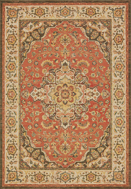 Oriental Weavers Toscana 9551B Orange | Hot Deals