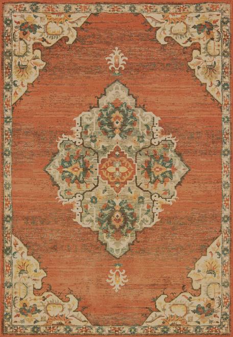 Oriental Weavers Toscana 9568B Orange | Hot Deals