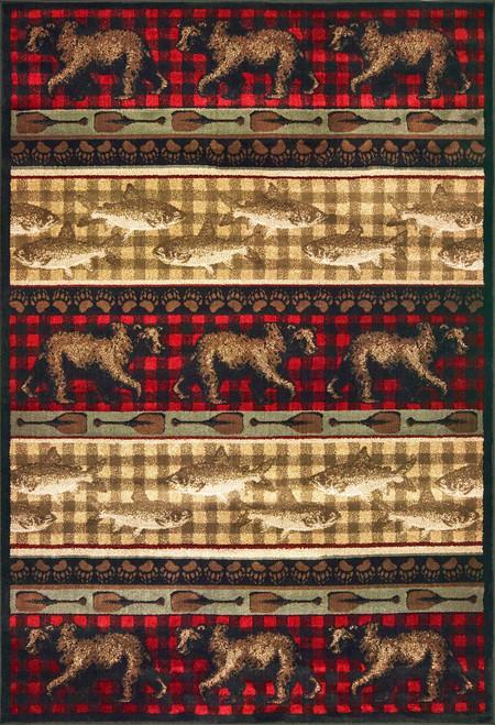 Oriental Weavers Woodlands 9594B Red | Hot Deals