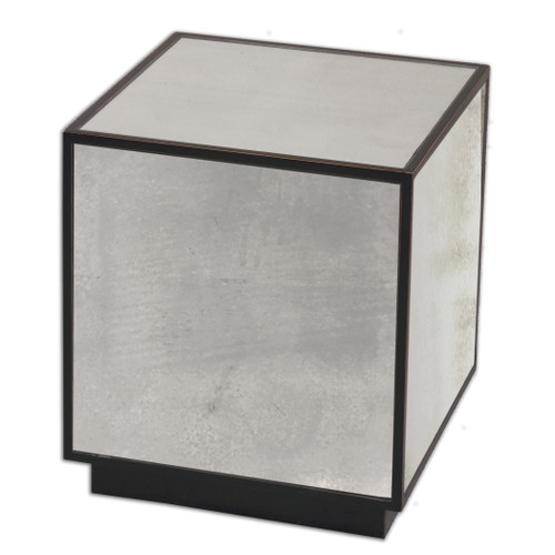 Uttermost Matty Mirrored Cube Table by Matthew Williams