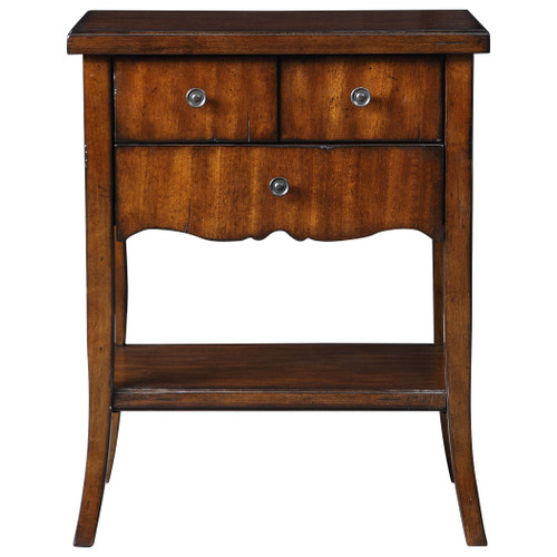 Uttermost Carmel Wood End Table by Matthew Williams