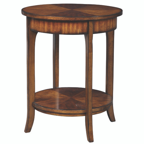 Uttermost Carmel Round Lamp Table by Matthew Williams
