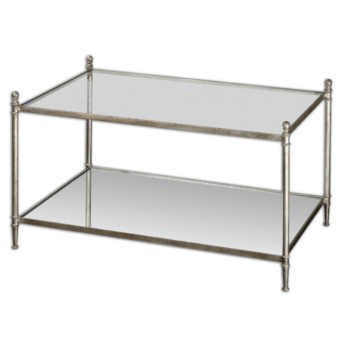 Uttermost Gannon Mirrored Glass Coffee Table by Matthew Williams