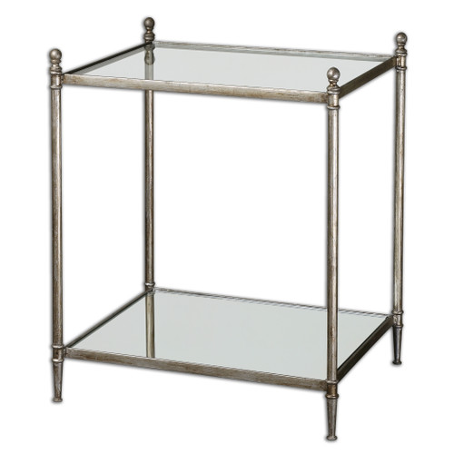 Uttermost Gannon Mirrored Glass End Table by Matthew Williams