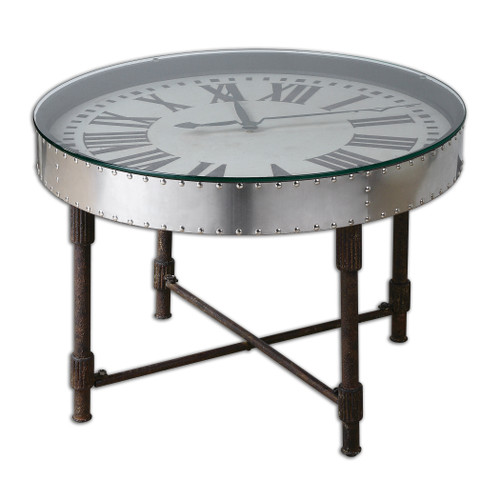 Uttermost Cassem Clock Table by Steve Kowalski