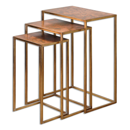 Uttermost Copres Oxidized Nesting Tables Set/3 by Grace Feyock