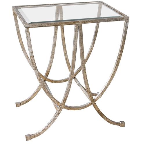 Uttermost Marta Antiqued Silver Side Table by Carolyn Kinder