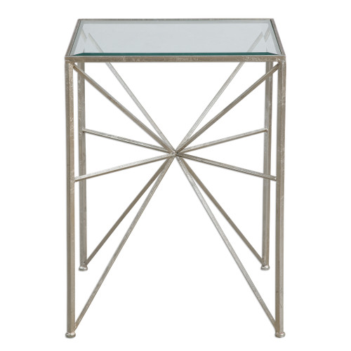 Uttermost Silvana Silver Side Table by Jim Parsons