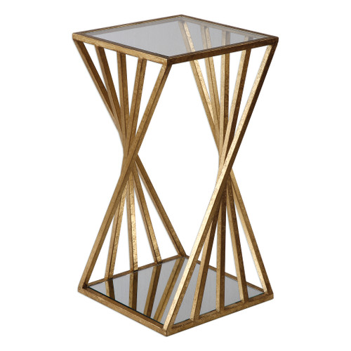 Uttermost Janina Gold Dimensional Accent Table by Matthew Williams