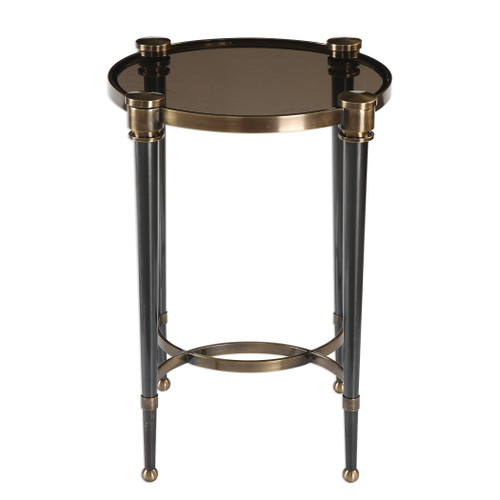 Uttermost Thora Brushed Black Accent Table by Billy Moon