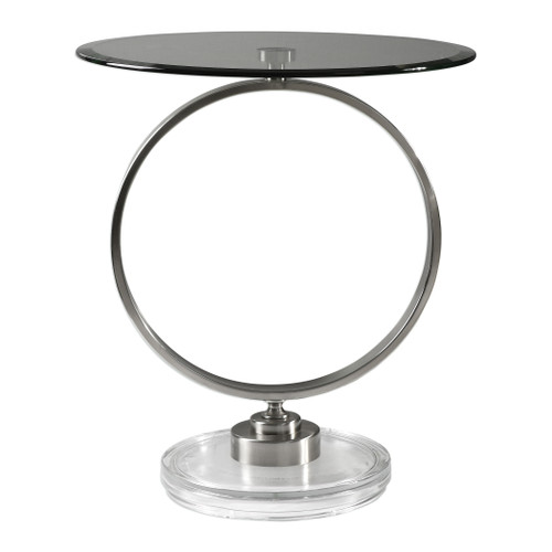 Uttermost Dixon Brushed Nickel Accent Table