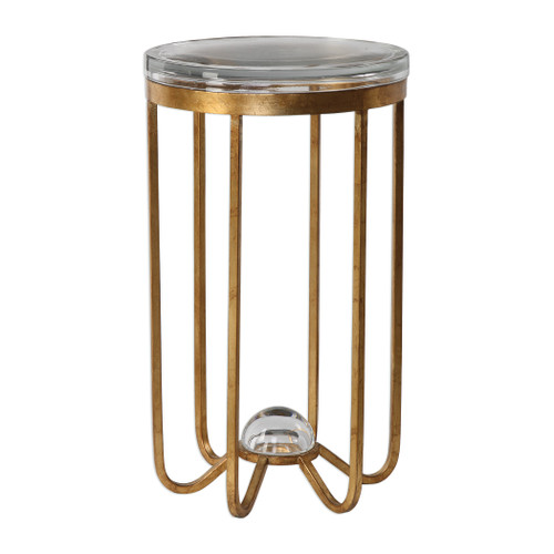 Uttermost Allura Gold Accent Table by David Frisch