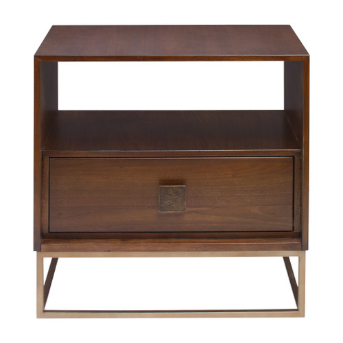 Uttermost Bexley Walnut Side Table by Matthew Williams