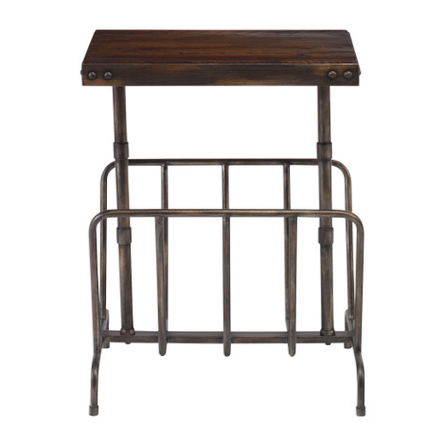 Uttermost Sonora Industrial Magazine Side Table by Matthew Williams