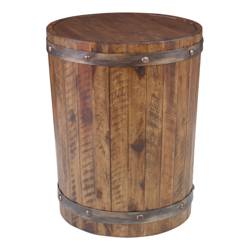 Uttermost Ceylon Wine Barrel Accent Table by Matthew Williams