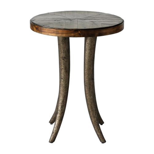 Uttermost Ezra Round Accent Table by Matthew Williams
