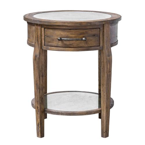 Uttermost Raelynn Wood Lamp Table by Matthew Williams