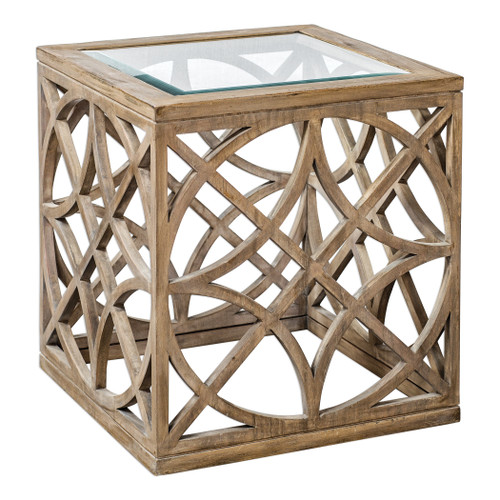 Uttermost Janeva Wheat Accent Table by Matthew Williams
