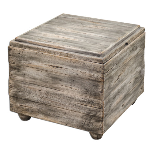 Uttermost Avner Wooden Cube Table by Matthew Williams