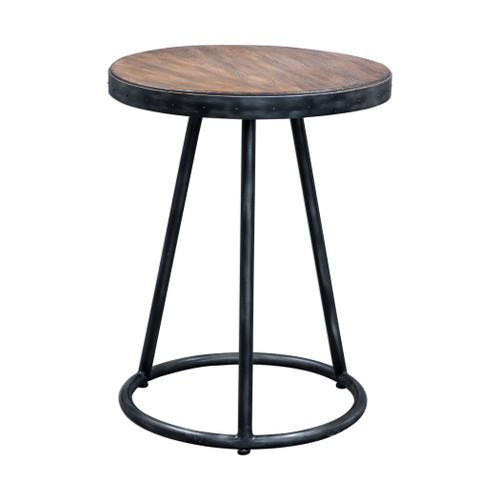 Uttermost Hector Round Accent Table by Matthew Williams