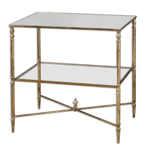 Uttermost Henzler Mirrored Glass Lamp Table by Matthew Williams
