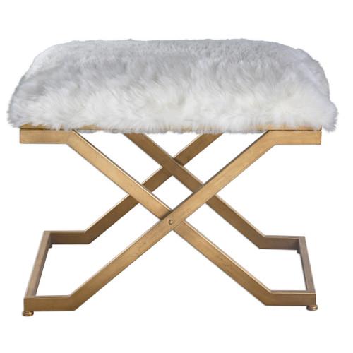 Uttermost Farran Fur Small Bench by Grace Feyock