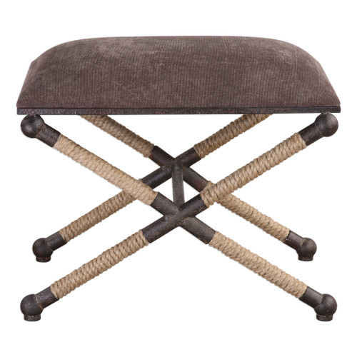 Uttermost Evert Taupe Brown Accent Stool by Grace Feyock