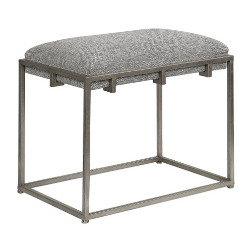 Uttermost Edie Silver Small Bench by Grace Feyock