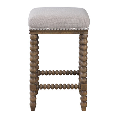 Uttermost Pryce Wooden Counter Stool by Matthew Williams