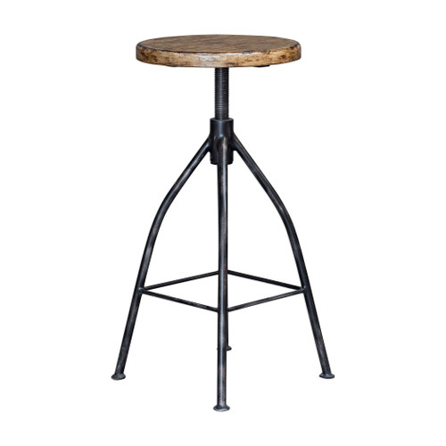Uttermost Dalvin Industrial Pub Stool by Matthew Williams