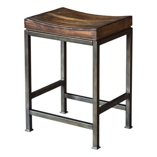 Uttermost Beck Wood Counter Stool by Matthew Williams