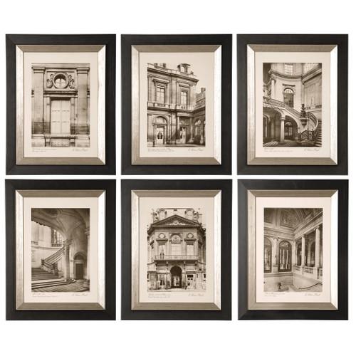 Uttermost Paris Scene Framed Art Set/6 by Grace Feyock