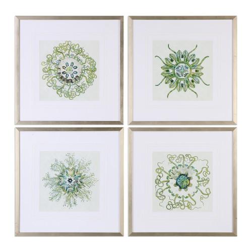 Uttermost Organic Symbols Print Art S/4 by Grace Feyock