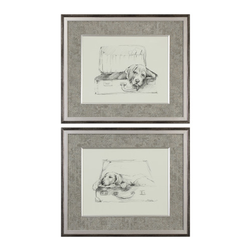 Uttermost Stowaway Dog Prints S/2