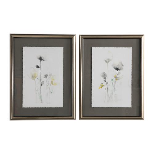 Uttermost Stem Illusion Floral Art, S/2