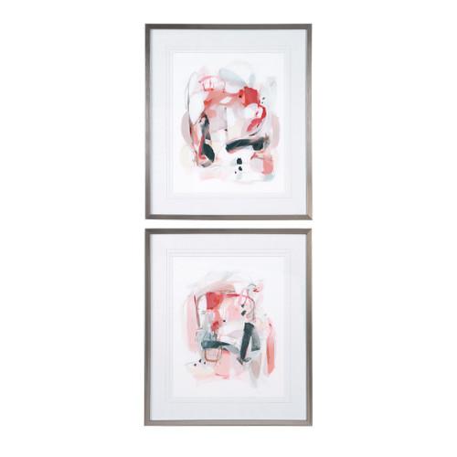 Uttermost Soft Speak Abstract Prints, S/2