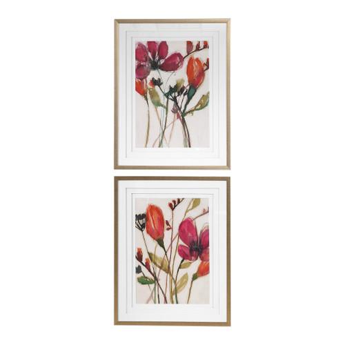 Uttermost Vivid Arrangement Floral Prints, S/2