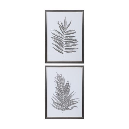 Uttermost Silver Ferns Framed Prints Set/2 by Grace Feyock