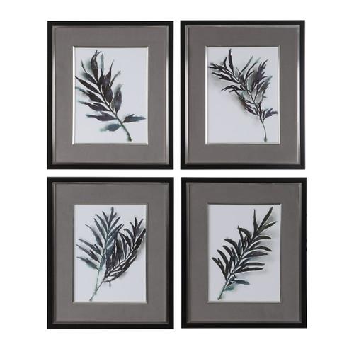 Uttermost Eucalyptus Leaves Framed Prints Set/4 by Grace Feyock