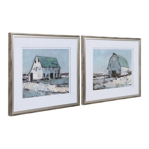 Uttermost Plein Air Barns Framed Prints Set/2