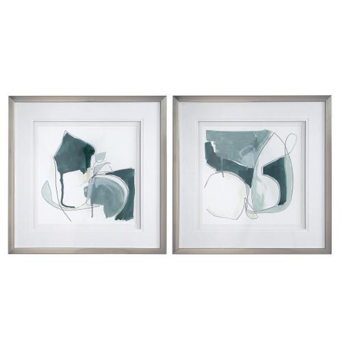 Uttermost Idlewild Framed Prints, Set/2